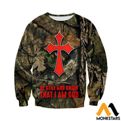 3D All Over Printed Camo And Cross Clothes Long-Sleeved Shirt / Xs