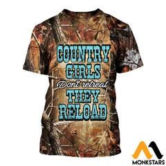 3D All Over Printed Camo Country Girl T-Shirt Hoodie Adgk040402 / Xs Clothes