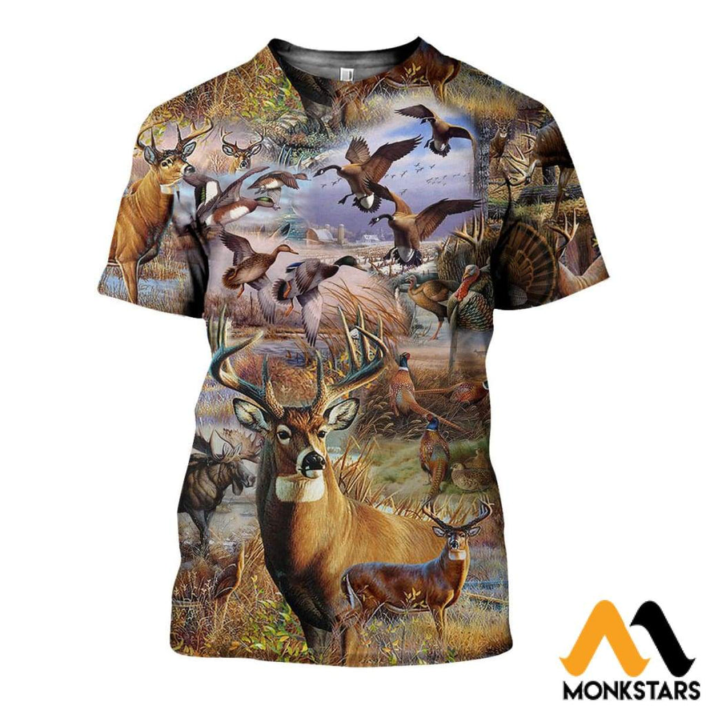f7d74eda53cf Camo Hunting Animals Art 3D All Over Printed Shirts For Men   Women –  Monkstars Inc.