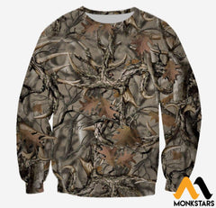 3D All Over Printed Camo Hunting Clothes Long-Sleeved Shirt / Xs