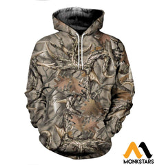 3D All Over Printed Camo Hunting Clothes Normal Hoodie / Xs