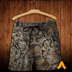3D All Over Printed Camo Hunting Clothes Shorts / Xs