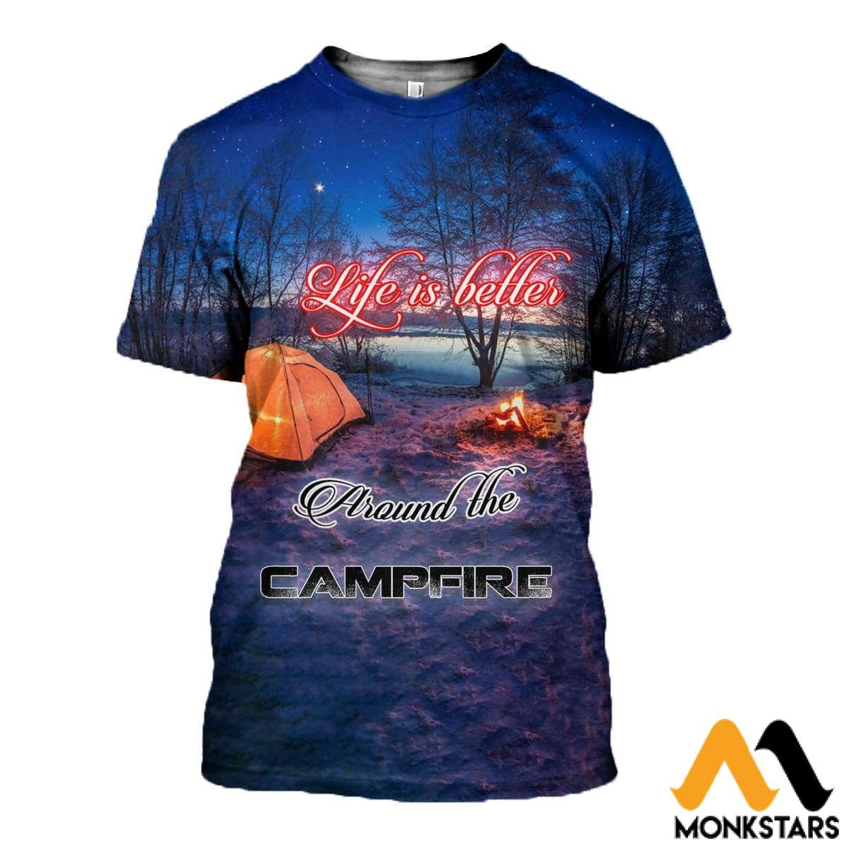 3D All Over Printed Camping T-Shirt Hoodie Adak200401 / Xs Clothes