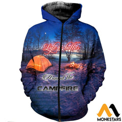 3D All Over Printed Camping T-Shirt Hoodie Adak200401 Zipped / Xs Clothes