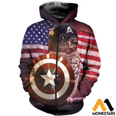 3D All Over Printed Captain T-Shirt Hoodie Saul230405 Zipped / Xs Clothes