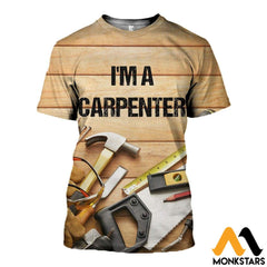 3D All Over Printed Carpenter T-Shirt Hoodie Saul190410 / Xs Clothes