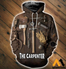 3D All Over Printed Carpenter Tools T-Shirt Hoodie Sntk020503 Normal / Xs Clothes