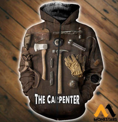 3D All Over Printed Carpenter Tools T-Shirt Hoodie Sntk020503 Zipped / Xs Clothes