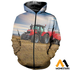 3D All Over Printed Case Ih T-Shirt Hoodie Sntl250410 Zipped / Xs Clothes