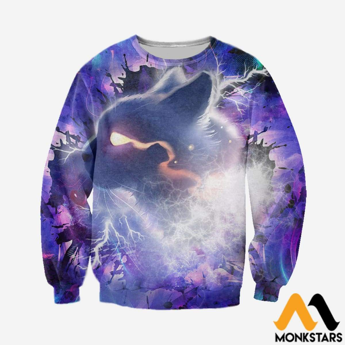 f8fd6e195d8a 3D All Over Printed Cat Purple Tops - Monkstars Inc.