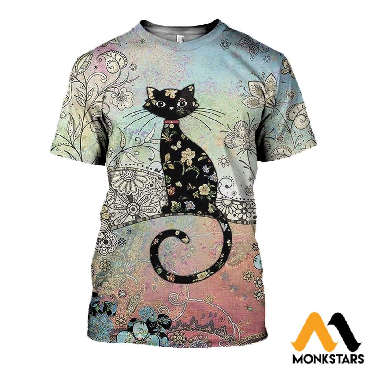 3D All Over Printed Cat T-Shirt Hoodie Adul100401 / Xs Clothes