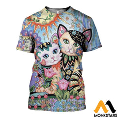 3D All Over Printed Cat T-Shirt Hoodie Adul100403 / Xs Clothes