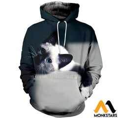 3D All Over Printed Cat T-Shirt Hoodie Sctl300309 / Xs Clothes