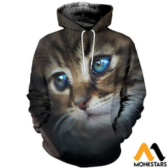 3D All Over Printed Cat T-Shirt Hoodie Sntl100402 / Xs Clothes
