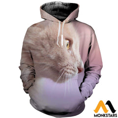 3D All Over Printed Cat T-Shirt Hoodie Snul100405 / Xs Clothes