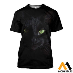 3D All Over Printed Cat With Blue Eyes T-Shirt Hoodie Gtk390312 / Xs Clothes