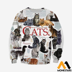 3D All Over Printed Cats Collection Shirts And Shorts Long-Sleeved Shirt / Xs Clothes