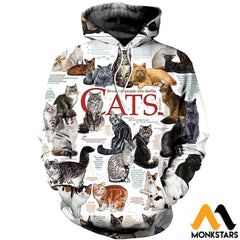 3D All Over Printed Cats Collection Shirts And Shorts Normal Hoodie / Xs Clothes