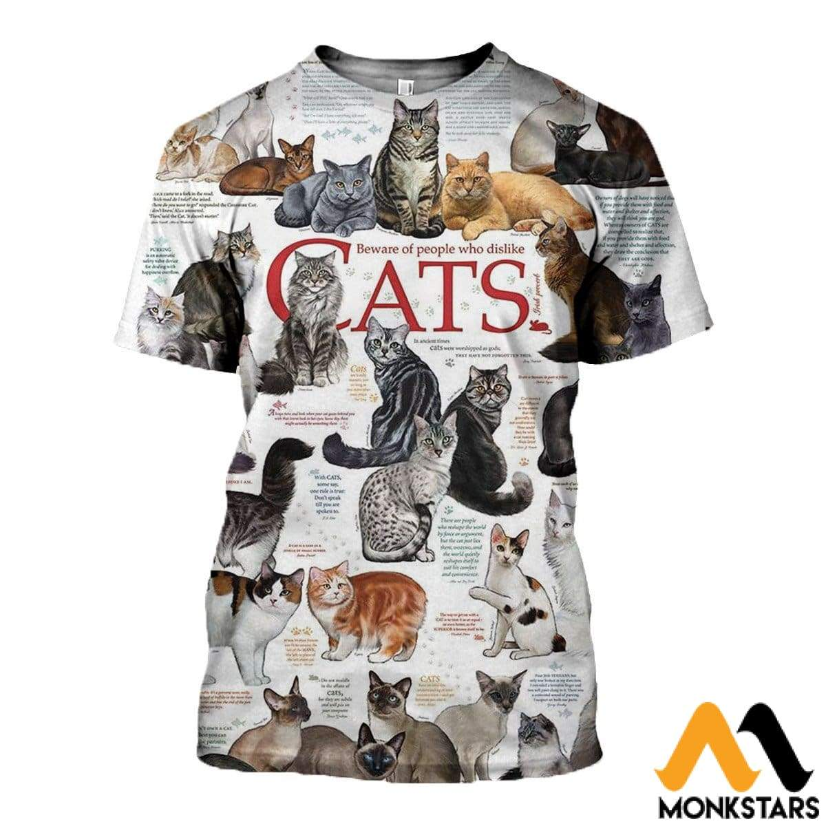 3D All Over Printed Cats Collection Shirts And Shorts T-Shirt / Xs Clothes