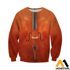 3D All Over Printed Cello Shirts And Shorts Long-Sleeved Shirt / Xs Clothes