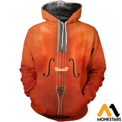 3D All Over Printed Cello Shirts And Shorts Normal Hoodie / Xs Clothes