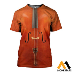 3D All Over Printed Cello Shirts And Shorts T-Shirt / Xs Clothes