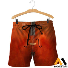 3D All Over Printed Cello Shirts And Shorts / Xs Clothes