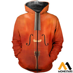 3D All Over Printed Cello Shirts And Shorts Zipped Hoodie / Xs Clothes