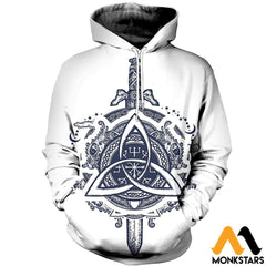 3D All Over Printed Celtic Dragons And Sword Clothes Normal Hoodie / Xs