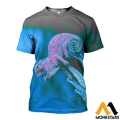 3D All Over Printed Chameleon T-Shirt Hoodie Aduk260402 / Xs Clothes