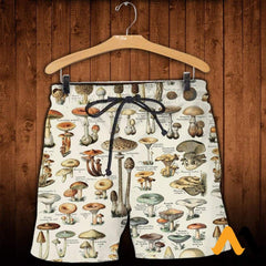 3D All Over Printed Champignons Clothes Shorts / Xs