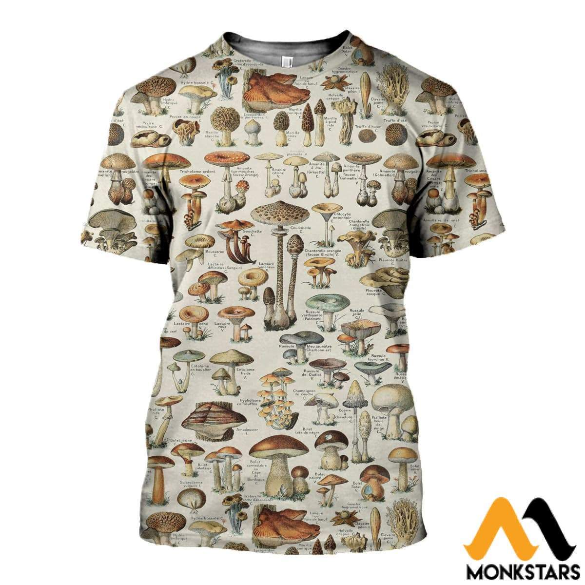 3D All Over Printed Champignons Clothes T-Shirt / Xs