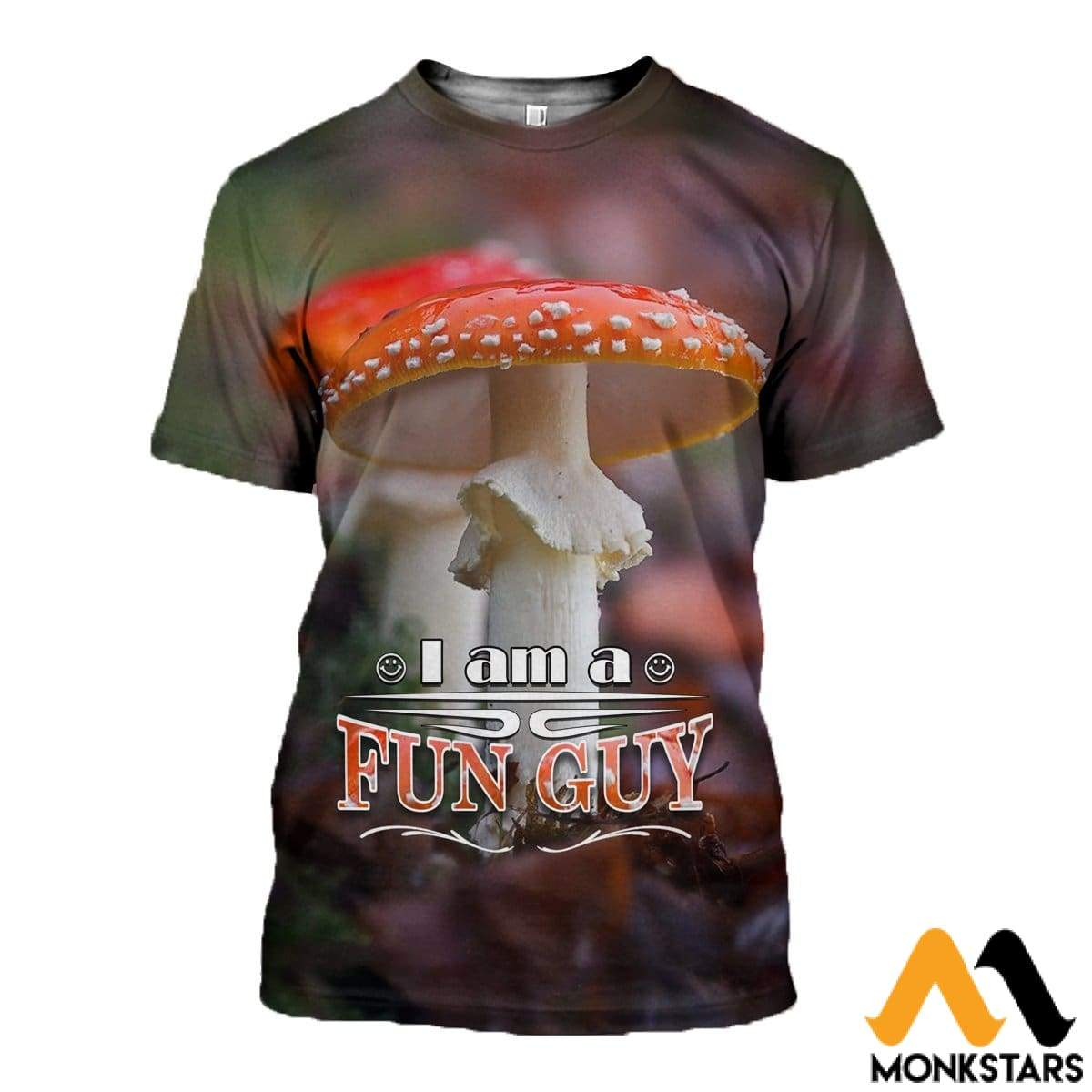 3D All Over Printed Champignons Mushroom Fungi Red Shirts And Shorts T-Shirt / Xs Clothes
