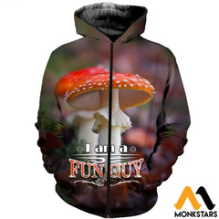 3D All Over Printed Champignons Mushroom Fungi Red Shirts And Shorts Zipped Hoodie / Xs Clothes