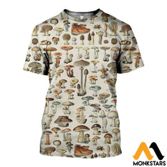 3D All Over Printed Champignons Mushroom Shirts And Shorts T-Shirt / Xs Clothes