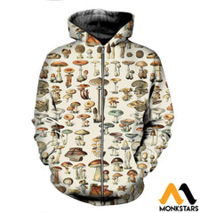 3D All Over Printed Champignons Mushroom Shirts And Shorts Zipped Hoodie / Xs Clothes