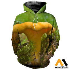 3D All Over Printed Chanterelles Shirts And Shorts Normal Hoodie / Xs Clothes
