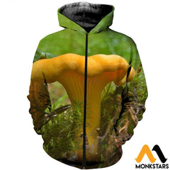 3D All Over Printed Chanterelles Shirts And Shorts Zipped Hoodie / Xs Clothes