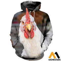 3D All Over Printed Chicken T-Shirt Hoodie Adgl090406 / Xs Clothes