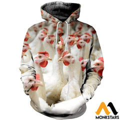 3D All Over Printed Chicken T-Shirt Hoodie Ahgk240403 Normal / Xs Clothes