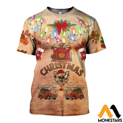 3D All Over Printed Christmas Decorating Ideas Shirts And Shorts T-Shirt / Xs Clothes
