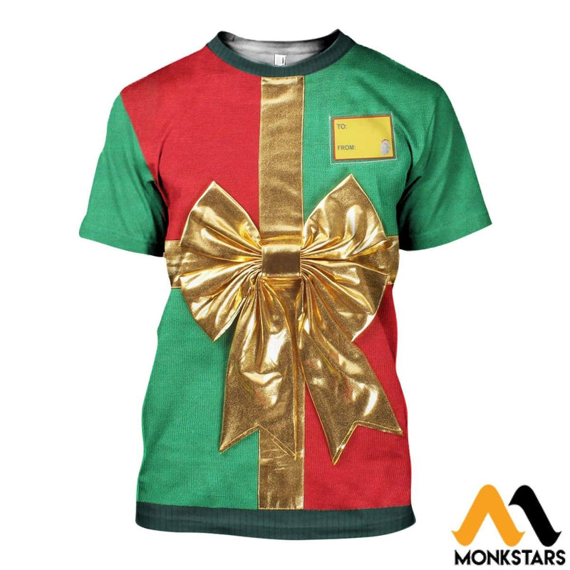 a70538391008 3D All Over Printed Christmas Gift Shirts and Shorts - Monkstars Inc.