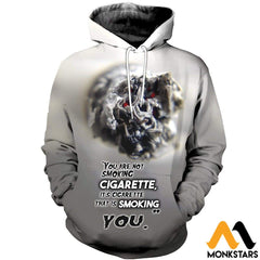 3D All Over Printed Cigarette T-Shirt Hoodie Sctl170411 Normal / Xs Clothes