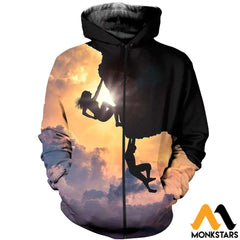 3D All Over Printed Climbing Shirts And Shorts Zipped Hoodie / Xs Clothes