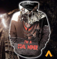 3D All Over Printed Coal Miner T-Shirt Hoodie Sntk020501 Normal / Xs Clothes