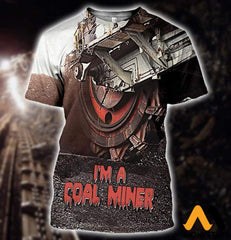 3D All Over Printed Coal Miner T-Shirt Hoodie Sntk020501 / Xs Clothes