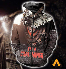 3D All Over Printed Coal Miner T-Shirt Hoodie Sntk020501 Zipped / Xs Clothes