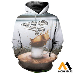 3D All Over Printed Coffee T-Shirt Hoodie Adal120413 / Xs Clothes