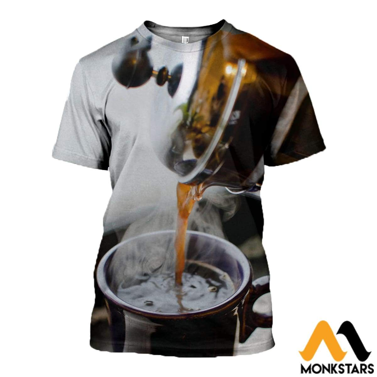 3D All Over Printed Coffee T-Shirt Hoodie Adal120415 / Xs Clothes