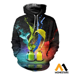 3D All Over Printed Color T-Shirt Hoodie St0L170406 Normal / Xs Clothes